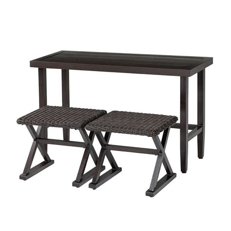 hton bay woodbury 3 patio console set dy9127 3