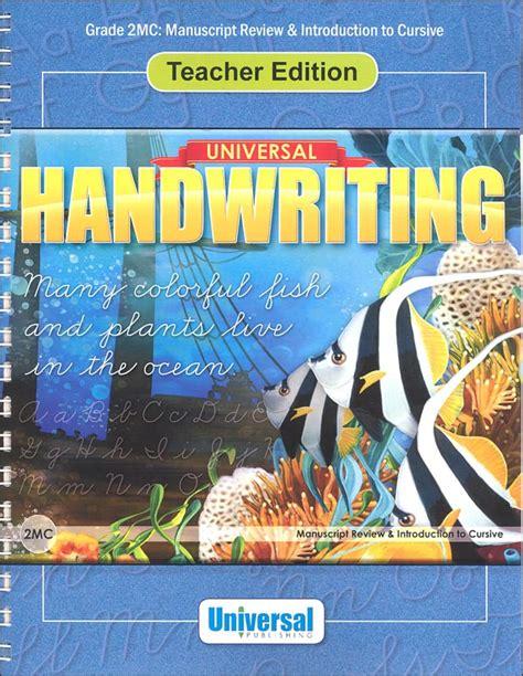 Manuscript Review & Introduction To Cursive  Grade 2mc Teacher Edition (universal Handwriting