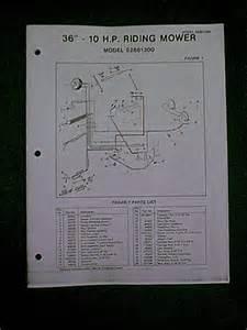 Dynamark Amf 36 10hp Riding Mower 52881300 Parts Manual