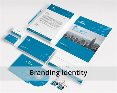 corporate identity stationery templates creative market