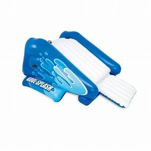 Jeux Gonflable Pour Piscine : toboggan gonflable pour piscine enterr bleu blanc ~ Dailycaller-alerts.com Idées de Décoration