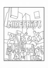 Mobs Minecraft Coloring sketch template