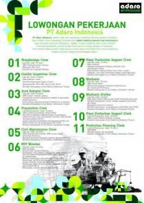 lowongan pekerjaan pt adaro indonesia smkn  martapura