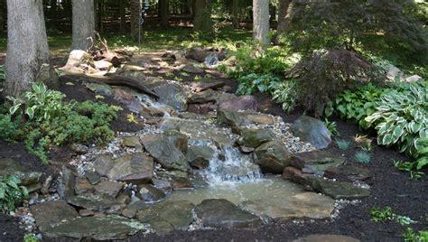 Building A Backyard Stream In Potomac, Maryland