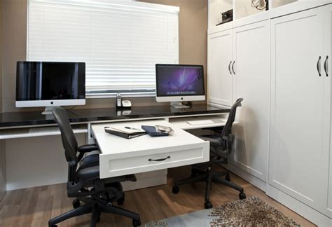 side tilt wall bed custom cabinetry in home office