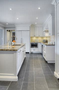 12x12 Slate Tile Flooring With White Cabinets  Google