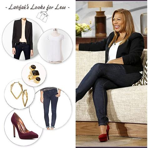Latifahu2019s Looks for Less Week of Nov 25th   Queen Latifah   Queen Latifah   Pinterest   Queens ...