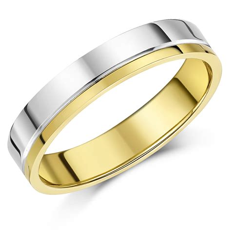 view full gallery of elegant 2 colour gold wedding rings displaying image 4 of 10