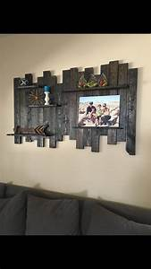 25 best ideas about reclaimed wood shelves on pinterest With kitchen cabinets lowes with large pallet wall art