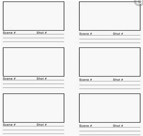 storyboard templates   word  formats