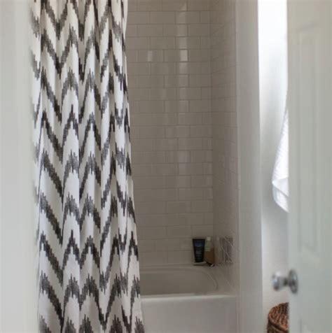 gray shower curtain chevron shower curtain contemporary bathroom grey