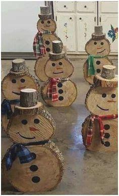 diy weihnachtsdeko holz great basteln mit baumscheiben bastelideen diy frosty  snowman
