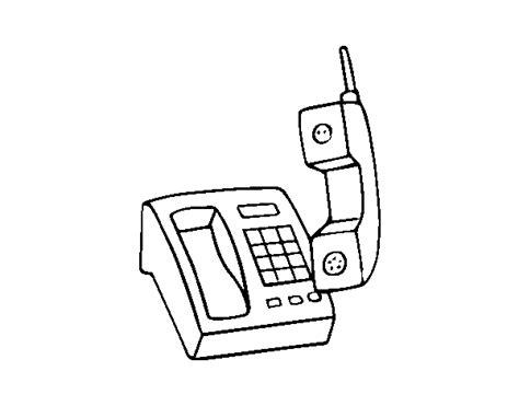 telefono da colorare disegno di telefono senza fili da colorare acolore