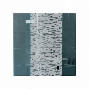 sticker paroi de douche depoli cheveux d39ange design With porte de douche coulissante avec stickers occultant fenetre salle de bain