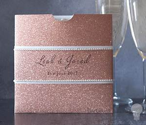 square glitter wallet rose gold square wallet for diy With wedding invitation wallets diy
