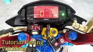 151 Tutorial Pemasangan Voltmeter Aki Motor