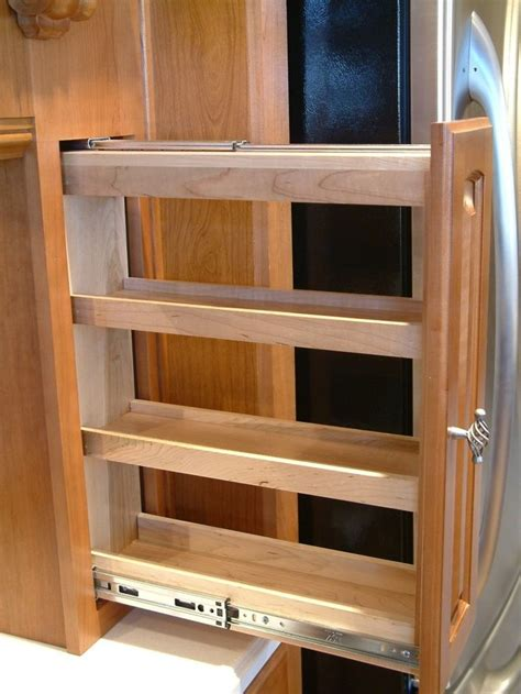 kitchen cabinets spice rack pull out sliding spice rack plans fascinating kitchen cabinet 9173