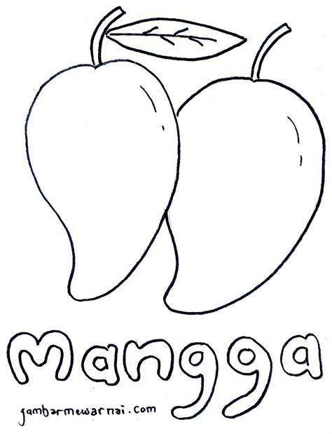 belajar mewarnai buah mangga