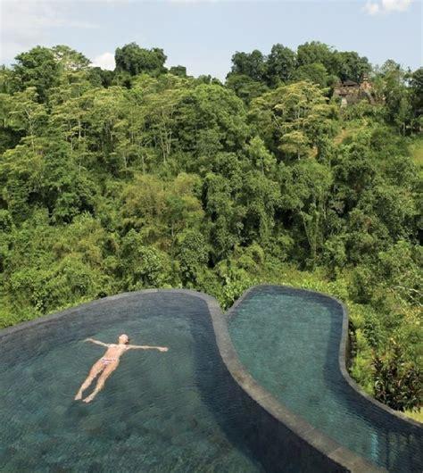hanging infinity pools in bali hanging infinity pools in bali at ubud hotel resort freshome com