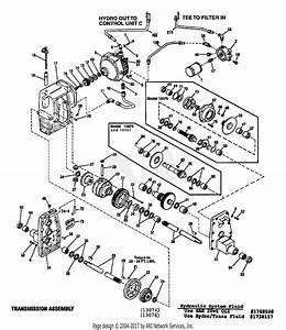 Troy Bilt 13076 20hp Hydro Garden Tractor  S  N 130760100101  Parts Diagram For Hydro  U0026 Transaxle