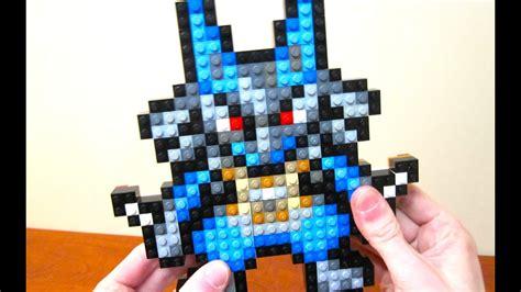lego lucario pokemon diamond  pearl youtube