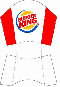 burger king fries miniature printable pinterest With french fries packaging template