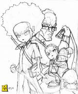 Coloring Boondock Huey Pages Boondocks Sketchite Sketches Template Sketch Credit Larger Nisperos Rob sketch template