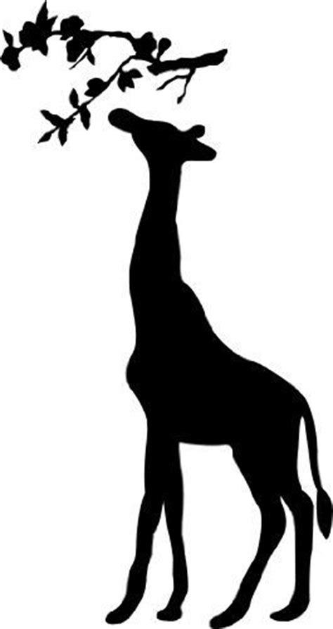 pin  austen michaels  lexis room giraffe silhouette