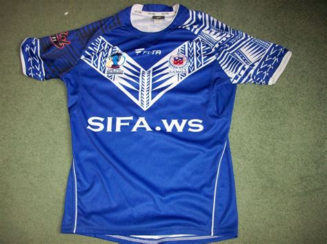 samoa player issue rugby league world cup kit shirt