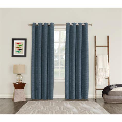 sun zero curtains sun zero talin indigo lined blackout grommet curtain 52