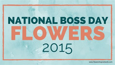 national boss day flowers 2015