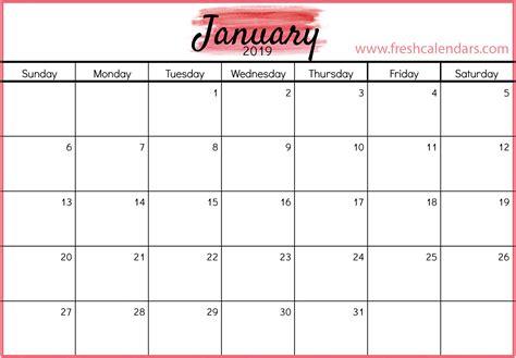 january calendar printable templates