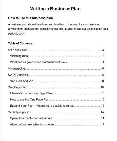 bussines plan template    documents