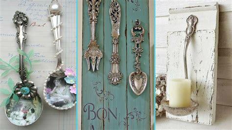diy shabby chic style silverware decor ideas spoon
