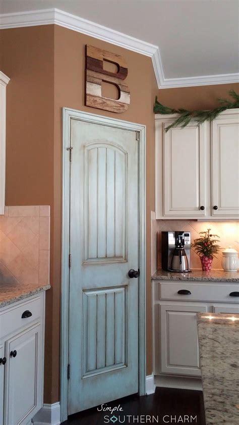 aqua pantry door update simple southern charm