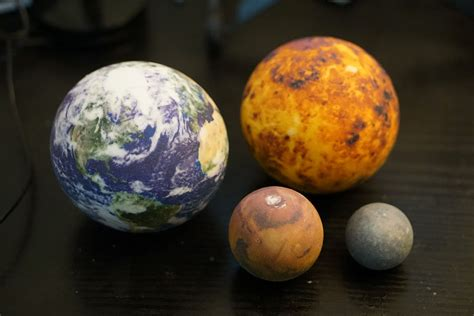 printed solar systems moons  planets