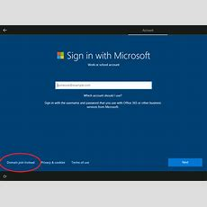 Account Options When Setting Up Windows 10, And Microsoft's Enforced Insecurity Questions Tim