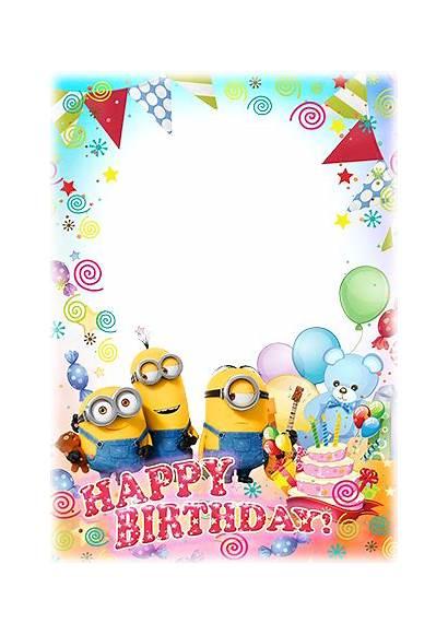 Birthday Happy Frame Minions Marco Frames Wishes
