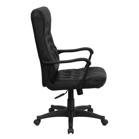 mfo high back traditional black leather executive swivel