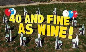 fine as wine birthday yard card silly sentiment signs With happy birthday lawn letters