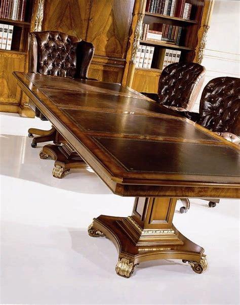 piedistalli per tavoli tavolo conferenze fisso rettangolare con piano in pelle