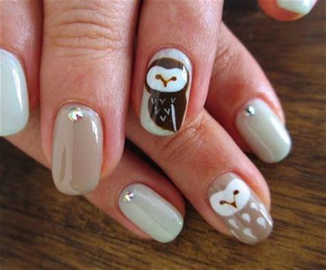owl nail art  pinterest  inspiring ideas