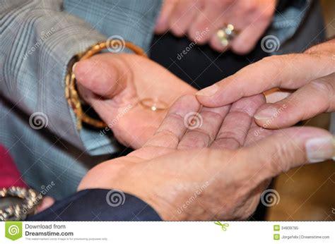 exchange of wedding rings royalty free stock photo image