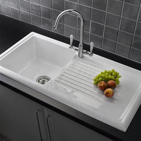 reginox rlcw white ceramic single bowl kitchen sink ebay