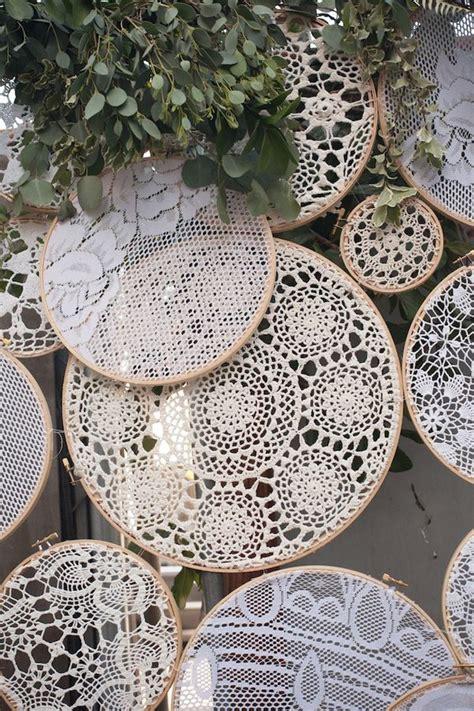unique embroidery hoops boho wedding decor ideas deer