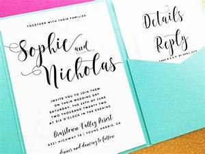 pocketfold wedding invitation pocket fold wedding With pocket fold enclosure wedding invitations