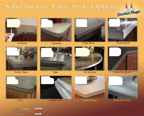 corian countertop edges 21 best images about countertop edges on