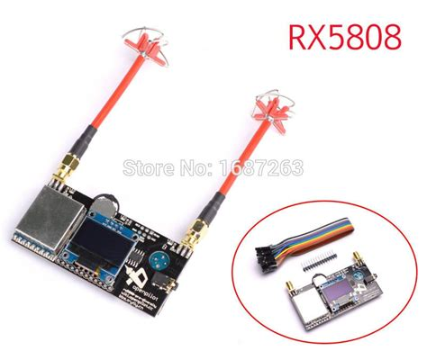 Fpv 5.8g 40ch Rx5808 Pro Diversity Receiver Oled Display