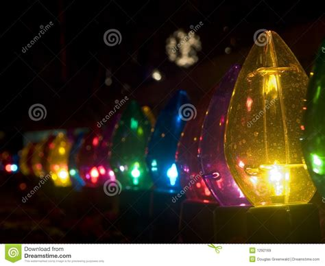 row  outdoor large christmas lights royalty  stock
