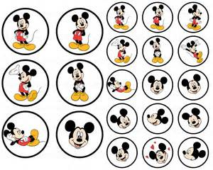 Free Printable Mickey Mouse Bottle Cap Image